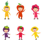 Costumes fruit kids vector vector illustration