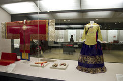 Costumes for the Korean Royal families in National Palace Museum of Korea Stock Photography