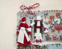 Costumes romenos - Martisor Fotos de Stock