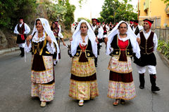 Costumes of Sardinia Royalty Free Stock Images