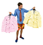 Costumes from stickers Stock Image