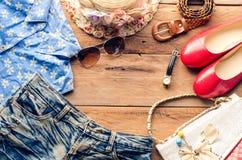 Costumi degli accessori di viaggio Passaporti, accessori per il viaggio Fotografie Stock