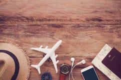 Costumi degli accessori di viaggio Passaporti, bagagli, il costo del tra Immagine Stock Libera da Diritti