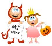 Costumi dei bambini dell'ossequio o di trucco Immagine Stock