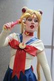Costumi di Cosplayers ed accessori di modo d'uso all'anime Exp Fotografia Stock Libera da Diritti
