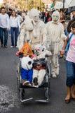 Costumi per il giorno dei morti fotografie stock