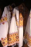 Costumi pieghi in museo in Cicmany, Slovacchia Fotografia Stock
