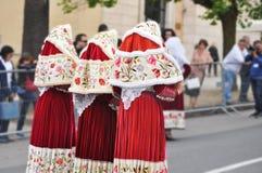 Costumi tradizionali sardi delle donne Fotografia Stock
