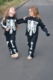 Costuming skeletons Royalty Free Stock Images