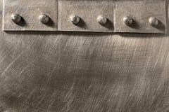 Costura clavada en el metal Fotografía de archivo