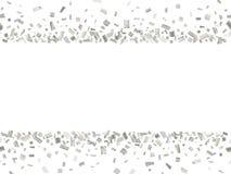 Costura de plata 2 del confeti Imagen de archivo libre de regalías