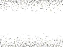 Costura de plata del confeti Fotos de archivo libres de regalías