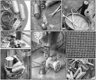 A costura utiliza ferramentas o bordado Fotografia de Stock Royalty Free