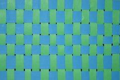 Costura verde y azul Imágenes de archivo libres de regalías