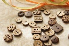 Costura y costura Botón Foto de archivo libre de regalías