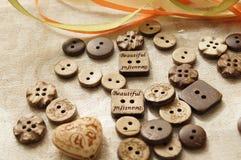 Costura y costura Botón Fotografía de archivo libre de regalías