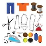 Costurando ícones Imagem de Stock Royalty Free