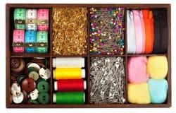 Costurando materiais Foto de Stock Royalty Free