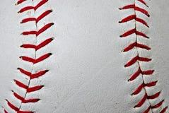 Costuras del béisbol fotografía de archivo