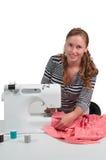 Costurera de la mujer Foto de archivo libre de regalías
