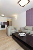 Cosy квартира - живущая комната стоковое изображение rf