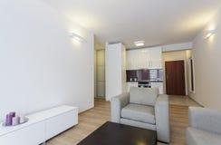 Cosy квартира - интерьер стоковое изображение
