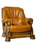 Cosy Antique leather armchair Royalty Free Stock Photo