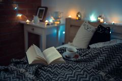 Cosy Bedroom. Bedroom inspiration in my village home Royalty Free Stock Photos
