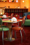 Cosy cafe. With a cheerful interior Stock Image