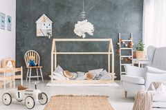 Cosy childs room with many toys Royalty Free Stock Image