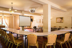 Cosy and comfortable meeting room. Picture of cosy and comfortable business meeting room royalty free stock images