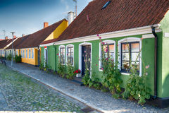 Colorful cottages. Cosy cottages a bright summer day royalty free stock photos