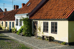 Colorful cottages. Cosy cottages a bright summer day royalty free stock photo
