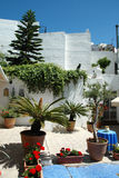Cosy courtyard in Spain Andalusia Stock Photography