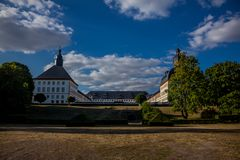 Cosy day in the park landscape in Gotha stock photos