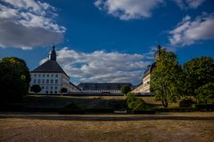 Cosy day in the park landscape in Gotha stock image