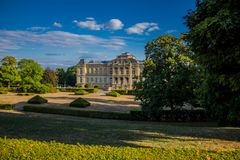 Cosy day in the park landscape in Gotha royalty free stock photo