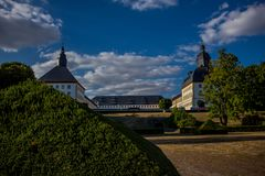 Cosy day in the park landscape in Gotha stock images