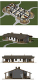House model, 3D rendering Royalty Free Stock Image