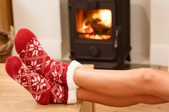 Cosy fire stock images