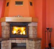 cosy fireplace 库存照片