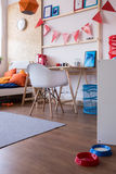 Cosy furnished boy room. Image of new design cosy furnished boy room royalty free stock photo