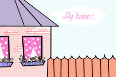 Cosy house. Royalty Free Stock Images