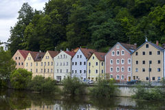 Cosy housses in Passau Royalty Free Stock Image