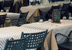 Cosy Italian cafe Stock Images
