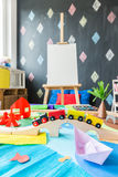 Cosy kindergarden with many toys Royalty Free Stock Photo