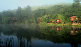 Cosy Log cabins in South Africa Stock Images