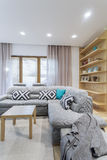 Cosy lounge corner inviting to have a nap Royalty Free Stock Photos