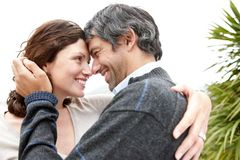 Cosy mature couple looking at each other - Outdoor Stock Photos