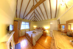 Cosy Old Cottage Interior Bedroom Stock Photos